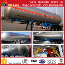 50m3 Liquid LNG LPG Gas Transport Carbon Tank Semi Trailer